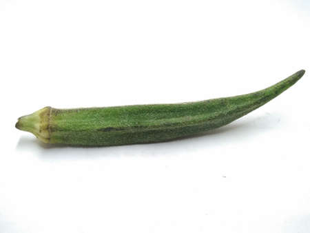 A picture of ladyfinger on a white background