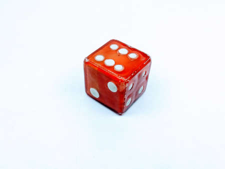 A picture of ludo dice isolated on white background