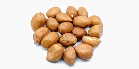 A picture of peanuts isolated on a white background Banco de Imagens