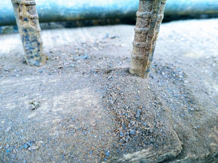 A picture of iron powder with steel rod 스톡 콘텐츠