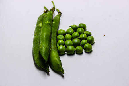 A picture of green peas