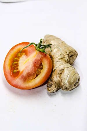 A picture of ginger with tomato Banco de Imagens