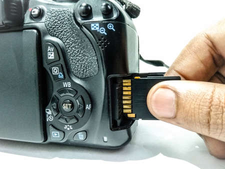 A picture of memory card in camera