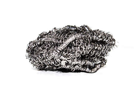 A picture of stainless steel scrub pad