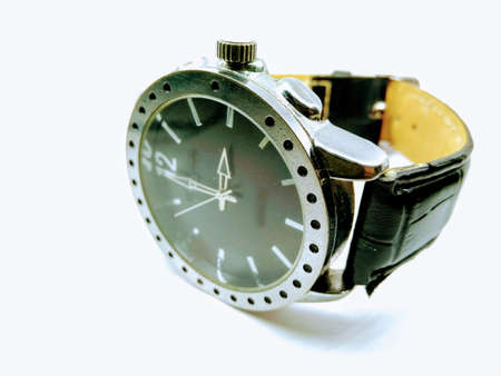 A picture of wristwatch on white background