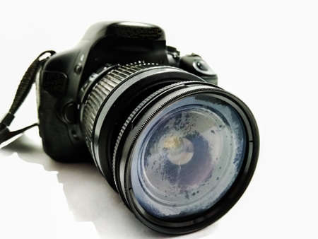 A picture of dslr with white background