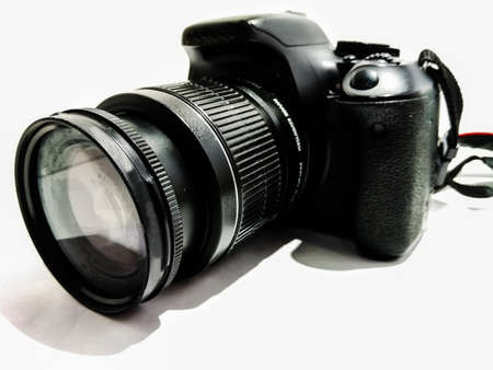 A picture of dslr with white background 免版税图像