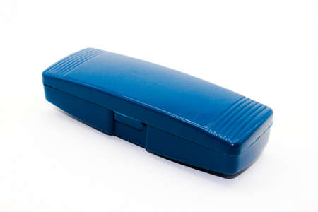 A picture of eye goggles box on white background