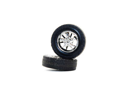A picture of car tires with selective focus Stock Photo