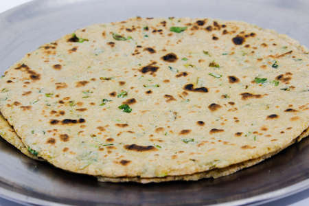 A picture of chapati isolated on white background