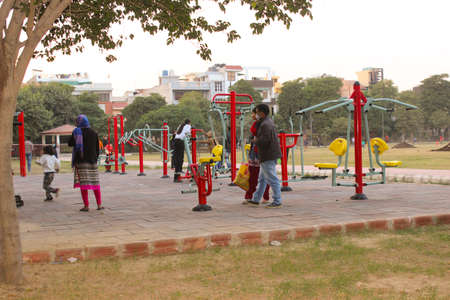Utter pardesh , india - open gym , A picture of open gym in noida 22 november 2020