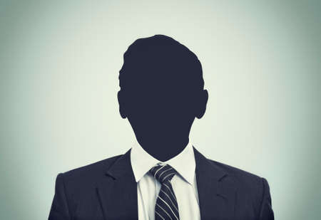 unnamed: An unkhown person in business suit Stock Photo