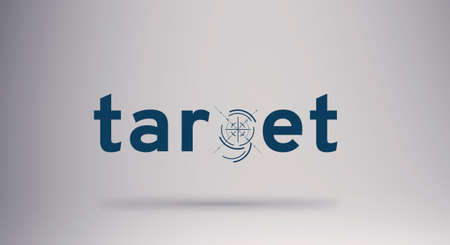 Target text concept banner . Creative word composition .