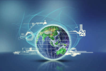 Global networking concept . Communication technology system .