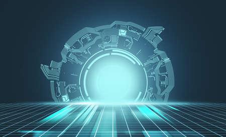 Futuristic tunnel  . Programming and digital media concept 免版税图像
