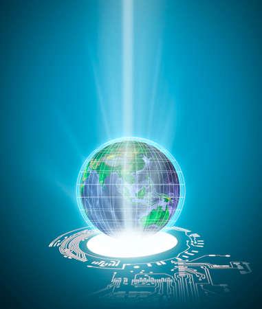 Global digital mediat concept . Communication and networking concept . 免版税图像
