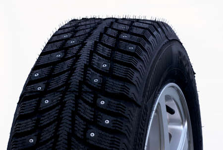 Studded winter tires photo
