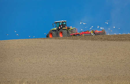 Tractor at work in a field