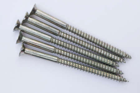 slotted: Slotted screw Stock Photo