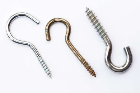 dowel: Different kinds of hooks Stock Photo
