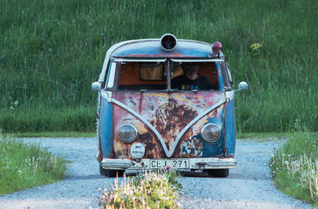 executable: HOLO SWEDEN, May 25, 2014. Volkswagen bus, Newly renovated, but the old feeling on the outside. Editorial
