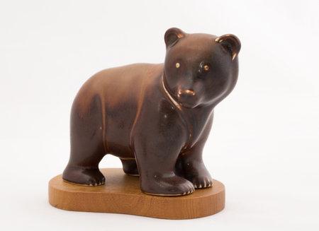 stoneware: STOCKHOLM SWEDEN, FEBRUARY 19, 2015. GUNNAR NYLUND, brown bear in stoneware, Rorstrand. SWEDEN