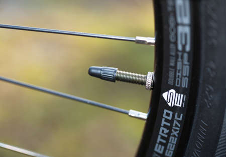 air bladder: bicycle tire valve