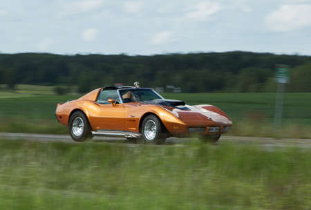 corvette: TROSA SWEDEN, 25 JUNI 2015. CHEVROLET CORVETTE year 1975.