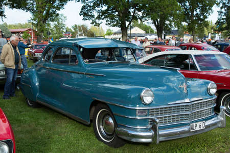 coupe: TROSA SWEDEN, 25 JUNI 2015. CHRYSLER WINDSOR COUPE. Year 1947.