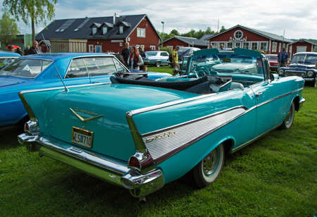 bel air: TROSA SWEDEN, 16 JULI 2015. CHEVROLET BEL AIR Yer 1957.
