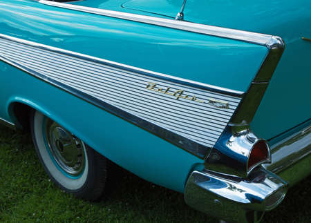 bel air: TROSA SWEDEN, 16 JULI 2015. CHEVROLET BEL AIR Editorial
