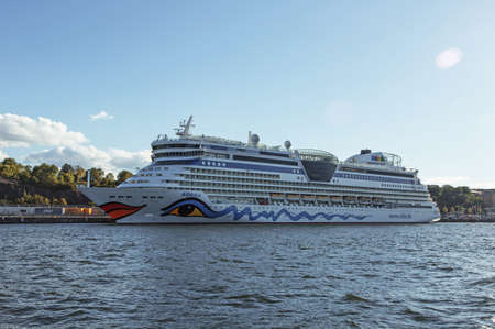 diva: STOCKHOLM-AUG-13-2015. Passenger boat  Aida diva, in the Stockholm.
