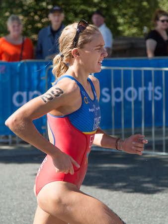 gomez: STOCKHOLM - AUG 22: Women ITU World Triathlon event Aug 22 2015. Gomez Garrido, Tamara (ESP) Editorial