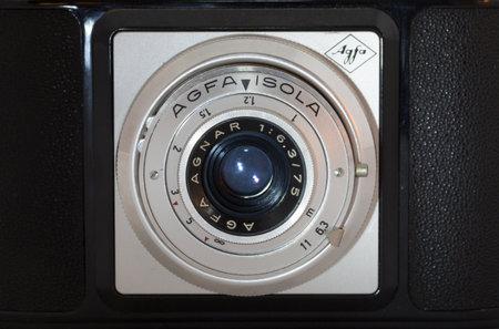 isola: STOCKHOLM SWEDEN November 29 2015.Agfa Isola Camera. Produced betwen 1956-59. 120 roll film for 6x6cm frames.