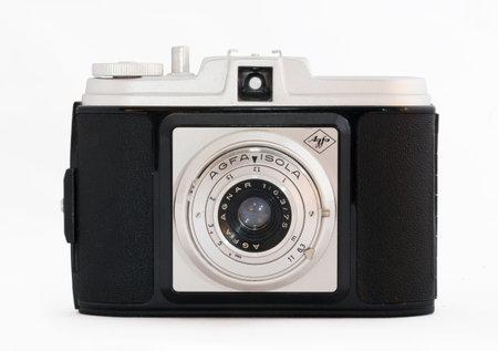 roll film: HOLO SWEDEN November 29-2015. Agfa Isola Camera. Produced betwen 1956-59. 120 roll film for 6x6cm frames.