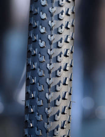 winter tires: Bicycle tires for winter roads Stock Photo