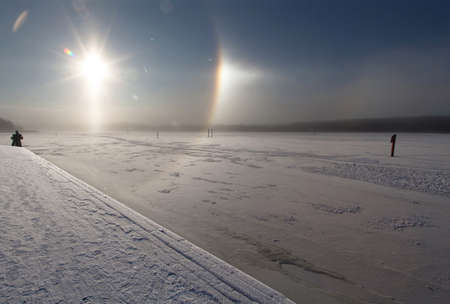 looked: Weather phenomena in Trosa Sweden. THIS IMAGE IS NOT TAMPERED: This is what it looked like in reality. NO FILTER IS USED.