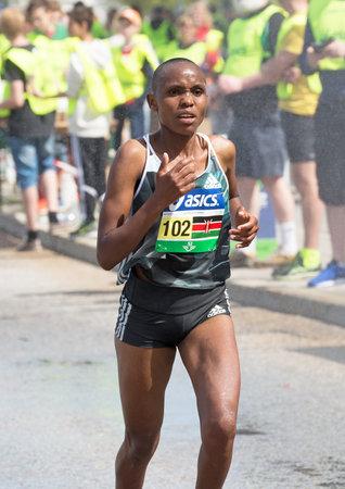 jane: STOCKHOLM MARATHON 4 JUNI 2016. The winner in the womens race Jane Moraa Onyangi Editorial