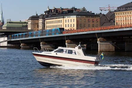 joyride: STOCKHOLM SWEDEN 4 May 2016. The pleasure boat in the waters of Stockholm.