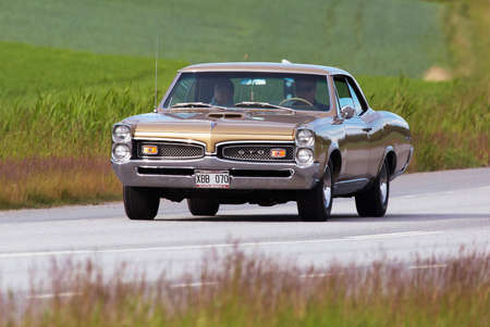 the tempest: TULLGARN SWEDEN June 9, 2016. PONTIAC TEMPEST GTO, year 1967.