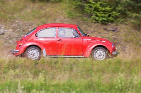joyride: TROSA SWEDEN June 23 2016. Red Volkswagen. Editorial