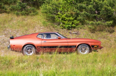 mach 1: TROSA SWEDEN June 23 2016. FORD MUSTANG MACH 1 year 1973. Editorial