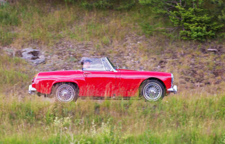 midget: TROSA SWEDEN June 23 2016. BMC MG MIDGET model year 1965. Editorial