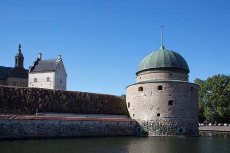 fortification: VADSTENA SWEDEN July 26, 2016.  Vadstena Castle is a castle complex was built as fortification of Gustav Vasa in the 1500s in the southwestern part of Vadstena.