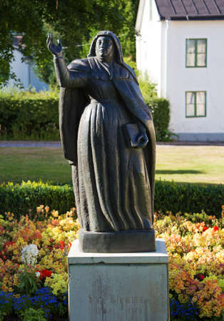 knowledgeable: VADSTENA SWEDEN 26 July 2016. Birgitta Birgersdotter also known as St. Birgitta, born about 1303 probably in Finsta, Uppland, died July 23, 1373 in Rome, the Papal States,