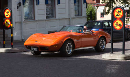 chevrolet: TROSA SWEDEN July 7 2016. CHEVROLET CORVETTE model year 1975.