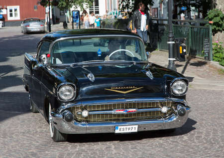 chevrolet: TROSA SWEDEN July 7 2016. CHEVROLET  year1957. Black.