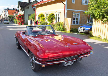 corvette: TROSA SWEDEN July 7 2016. CHEVROLET CORVETTE model year 1966.