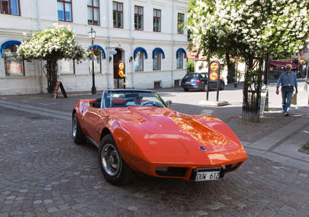 corvette: TROSA SWEDEN July 7 2016. CHEVROLET CORVETTE model year 1975.