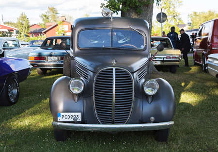 TROSA SWEDEN July 7 2016. Ford Pickup (91 c) model year 1939. Flathead 85 hk V8. Veteran Car meeting in the small Swedish town of Trosa located about 70 km south of Stockholm.